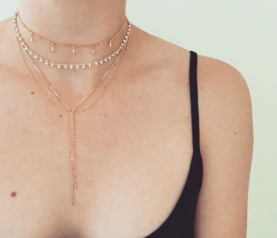 Five and Two Maddox II Necklace in Metallic Gold 8WTlrT