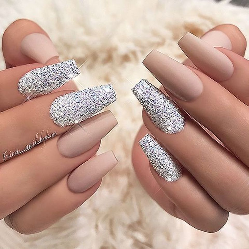 Glitter Nail Ideas For Summer: This Sweet Acrylic Nails Ideas For Winter 34 Image Is Part