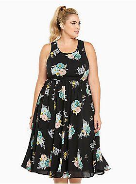 9ef73749755 Floral Print Georgette Midi Dress in 2019