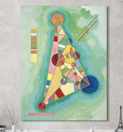 kunstdrucke bilder kunstler kunsterisch kunstwerke kunst leinwandbild bild abstrakt expressionist wassily kandinsky moderne abstrakte bekannte künstler gelbe
