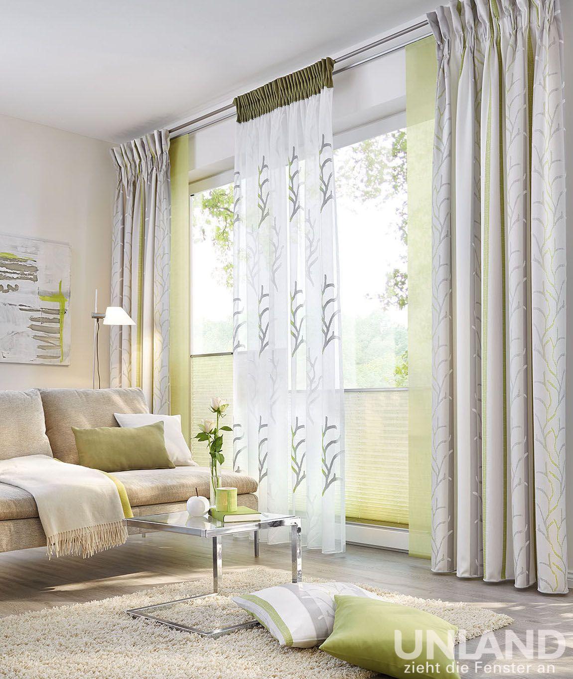 unland palma greenery 001 vorhang fensterideen. Black Bedroom Furniture Sets. Home Design Ideas