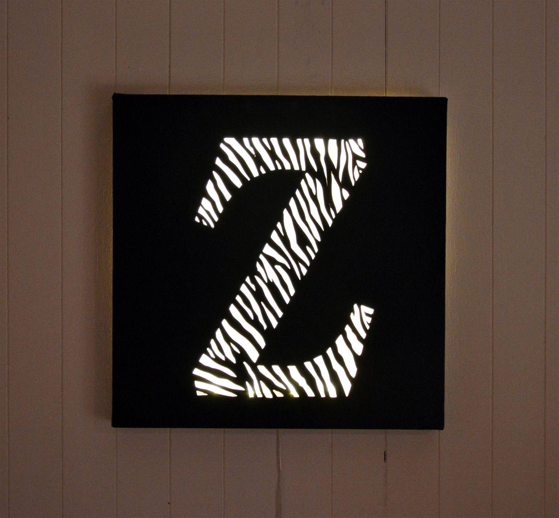 tableau lumineux led lettre 39 z comme z bre 39 d coration. Black Bedroom Furniture Sets. Home Design Ideas