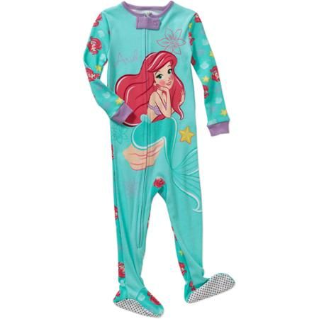 Little Mermaid Infant Baby Girl Footed Sleepwear Pajama  0cfe06610