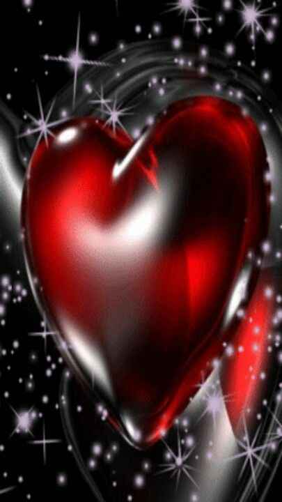 Red Heart In Black Sparkly Background Love Heart Images True Love Wallpaper Heart Wallpaper