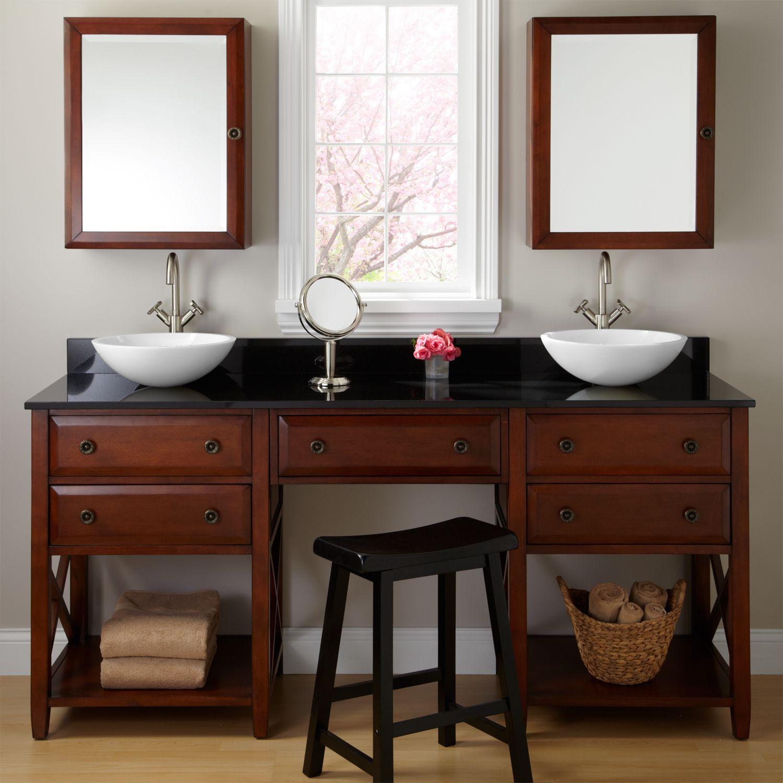 Double sink bathroom vanity with makeup table - Bathroom Vanity With Makeup Counter Awesome Ideas Ahoustoncom Double Sink Vanity With Makeup Table
