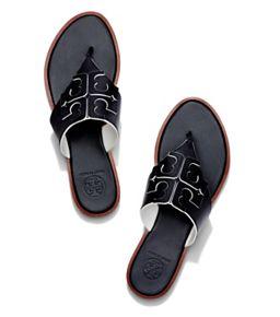 5ada7cc1fc13 Black Tory Burch Mini Miller Jelly Thong Sandal