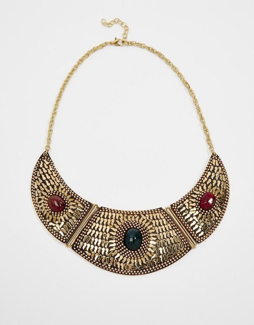 Raga | Raga Gold Plated Bib Necklace at ASOS