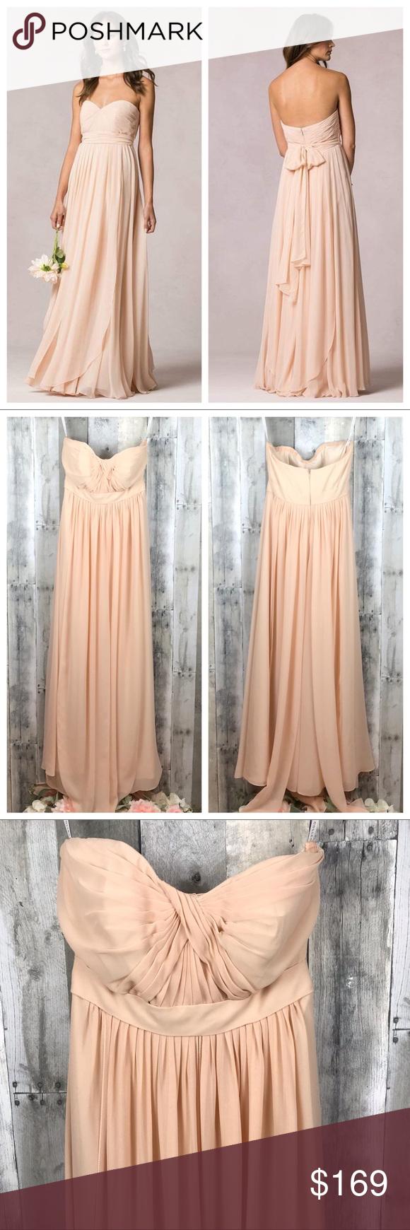 Jenny Yoo Mira Blush Bridesmaids Dress Size 0 Euc Jenny