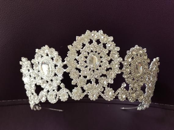 Swarovski crystal wedding tiara, crown tiara, bridal tiara, crystal wedding tiara, crystal crown tiara, bridal crown, bridal crystal crown #crowntiara