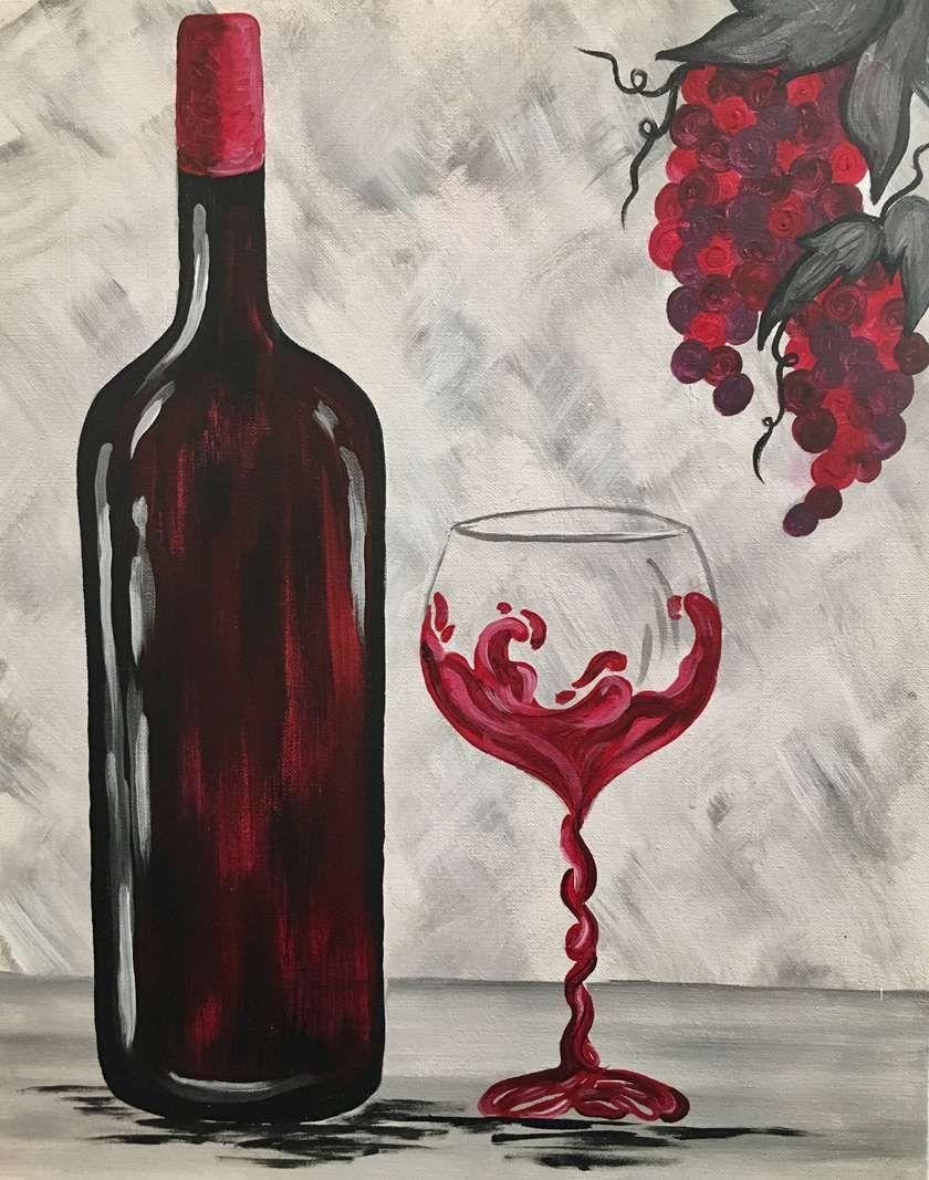 бутылка вина картинка для скетчбука слизистая оболочка