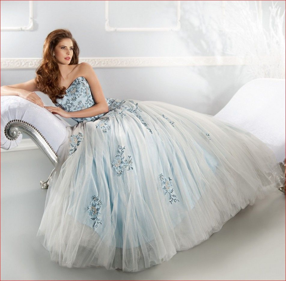 Small Crop Of Light Blue Wedding Dress