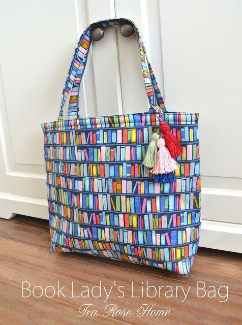 Tutorial: Library book tote bag