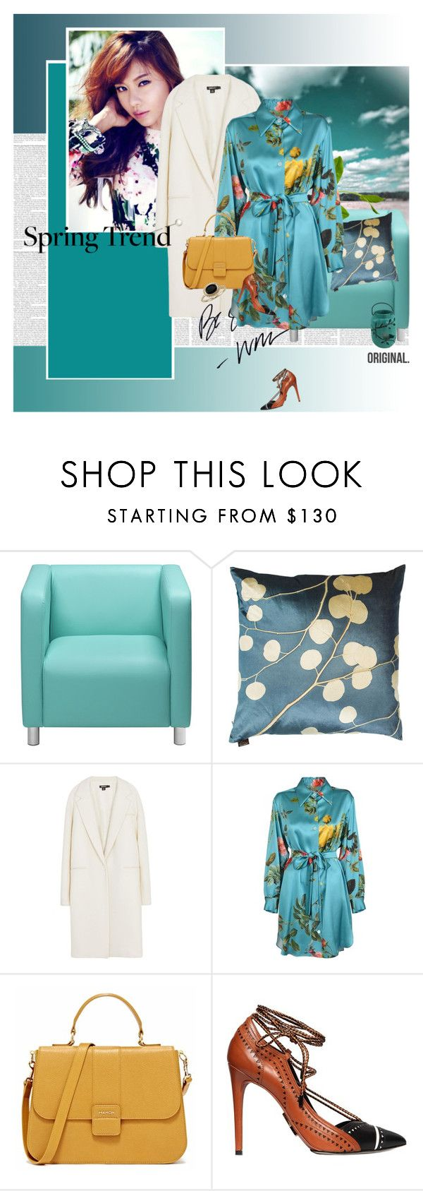 """""""Hello Spring"""" by stephaniee90 ❤ liked on Polyvore featuring Aviva Stanoff, DKNY, Daniele Michetti and Blue Nile"""