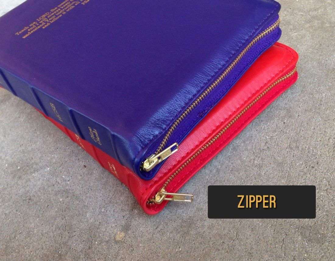 Add a zipper to your new genuine leather bible cover AALeather