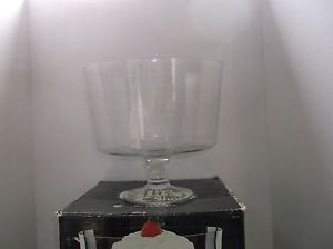 Vintage The Glass Shop by Colony Trifle Bowl 165 oz Clear Bowl Mouth Blown Glass