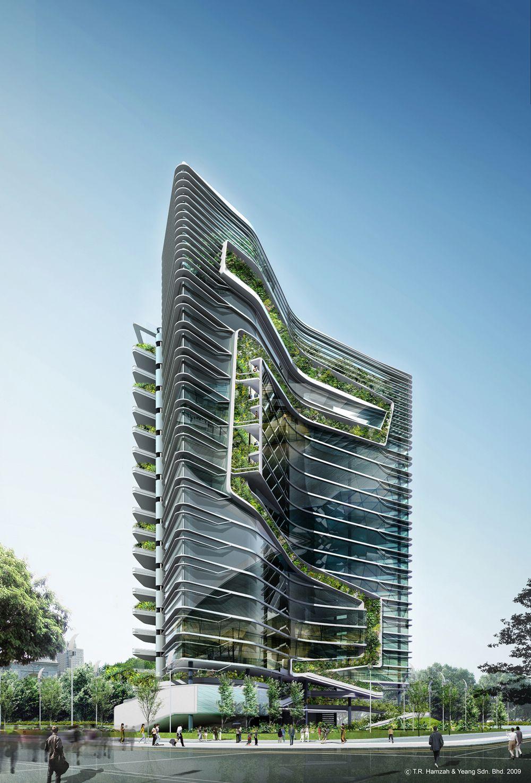 Spire Edge Tower In Guragon India Ken Yeang Art 12 Mesmerizing Urban Complex Oackapon Salachai