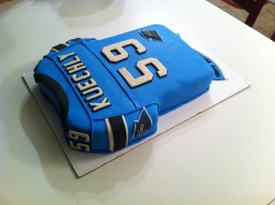 Frosted Football Jersey Cake Ideas