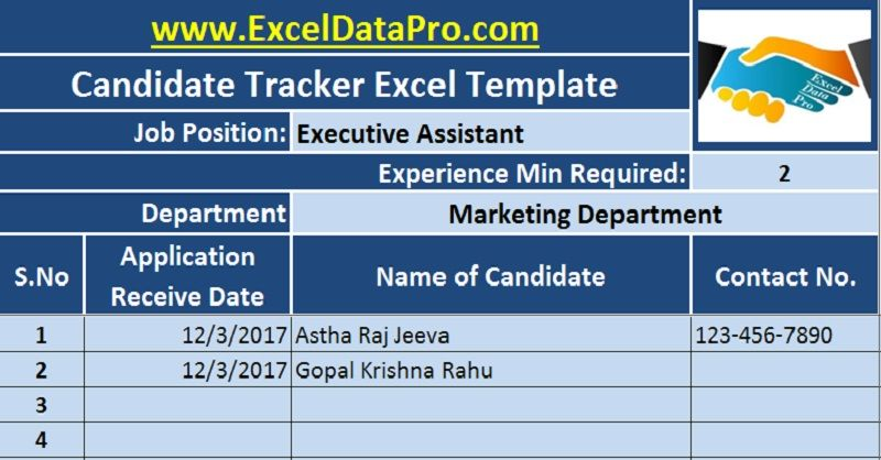 Job Candidate Tracker an all-in-one sheet that easily stores data of