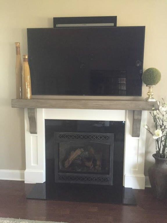 Dv Reface By Stoll And Mantle By Rfs Fireplace Glass Doors