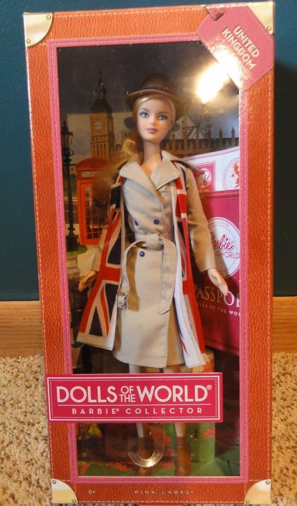 5be1247f7078b Dolls of the World United Kingdom 2013 Barbie Doll Pink Label  Dolls