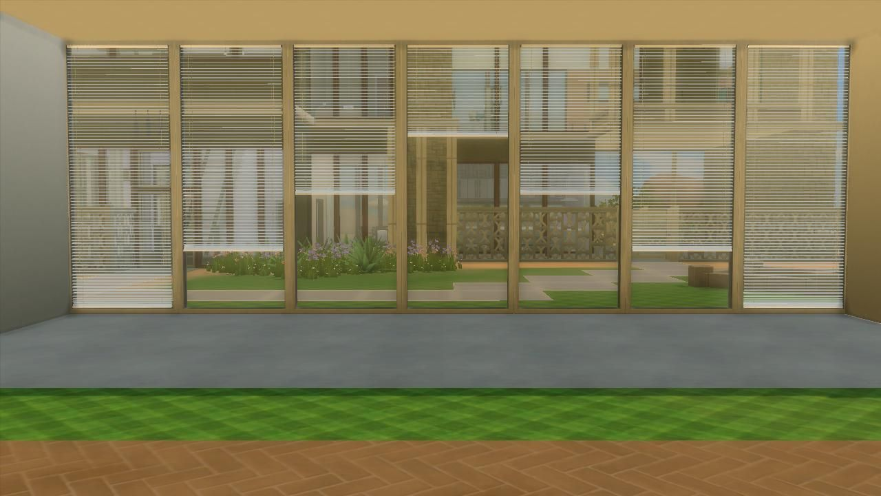 mod the sims horizontal curtain blinds ts4 window coverings