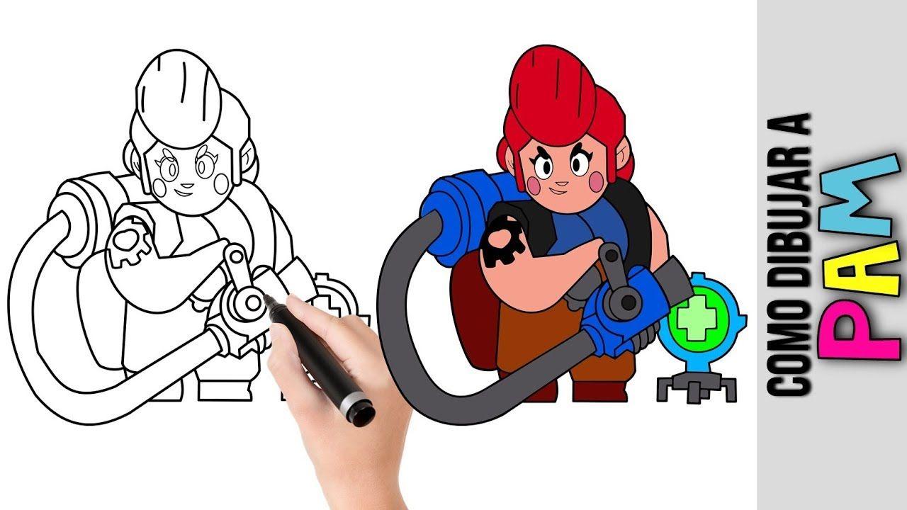Como Dibujar A Pam De Brawl Stars Dibujos Faciles Para Dibujar