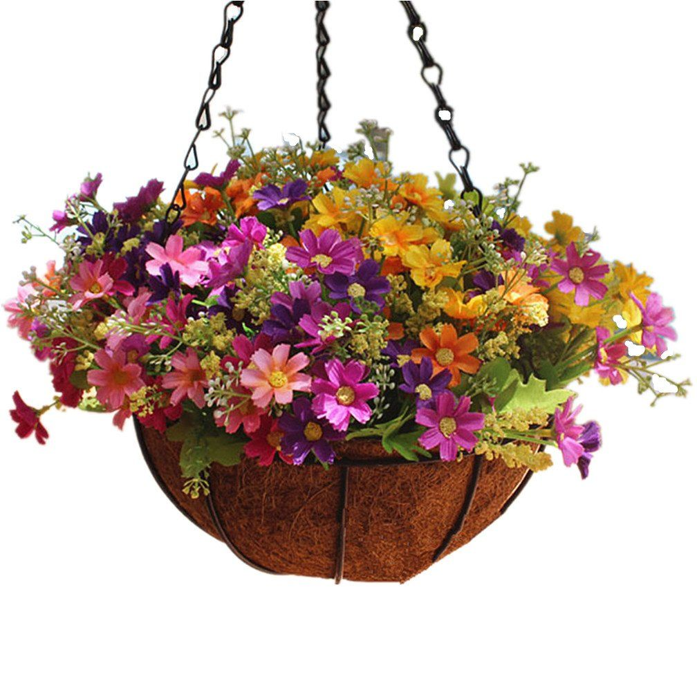 Mynse Daisy Flower Artificial Hanging Plant Home Balcony Indoor