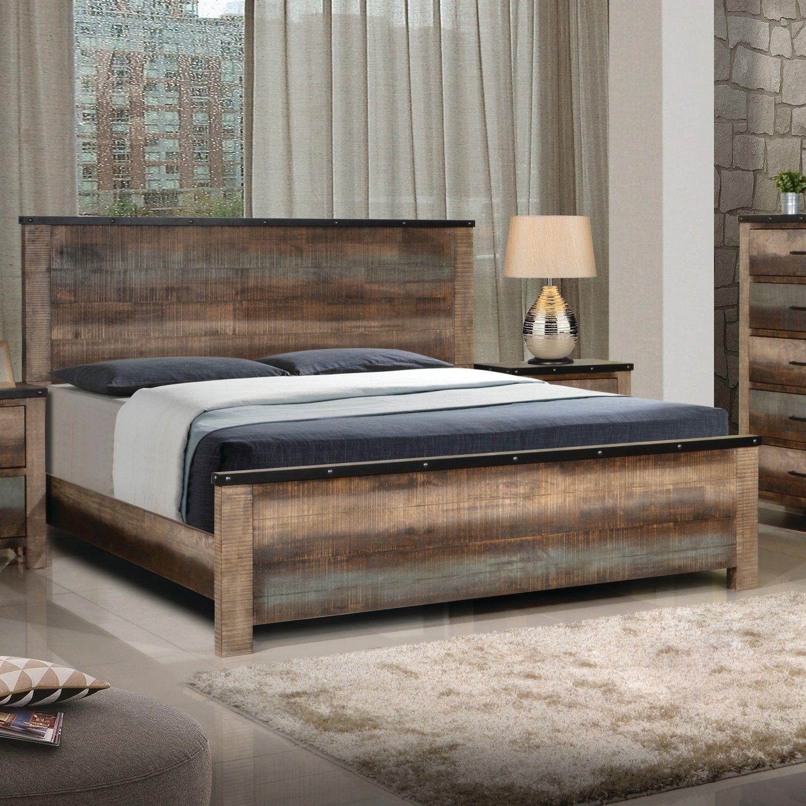 Carbon Loft Kiessling Rustic Antique Multicolor Bed (King
