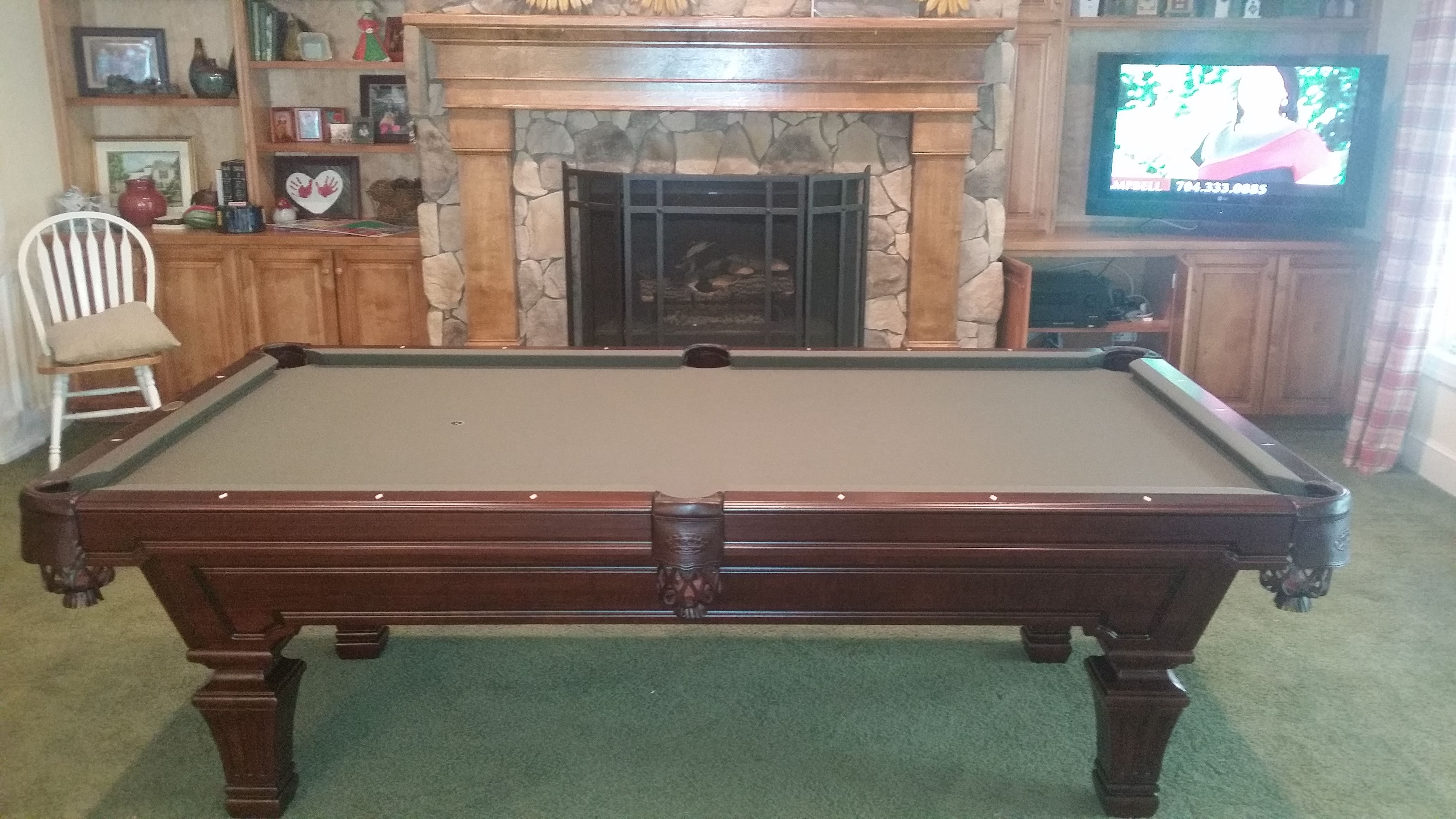 Olhausen Hampton Sold And Installed By Everything Billiards In Mount Holly Nc Www Everythingbilliards Net Olhausen Pool Table Billiards Man Cave