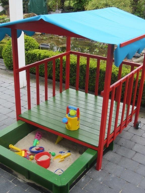 Fabulous Amazonde Wolfgang Schraders Rezension Von Sandkasten Dach Holz Spielhau With