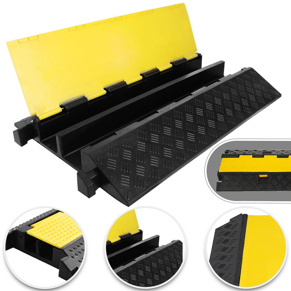 Ebay Sponsored 2 Channel Cable Cover Ramp Protector 36 5x22 5 Heavy Duty Snake Ramp Updated Floor Cable Cover Cord Protector