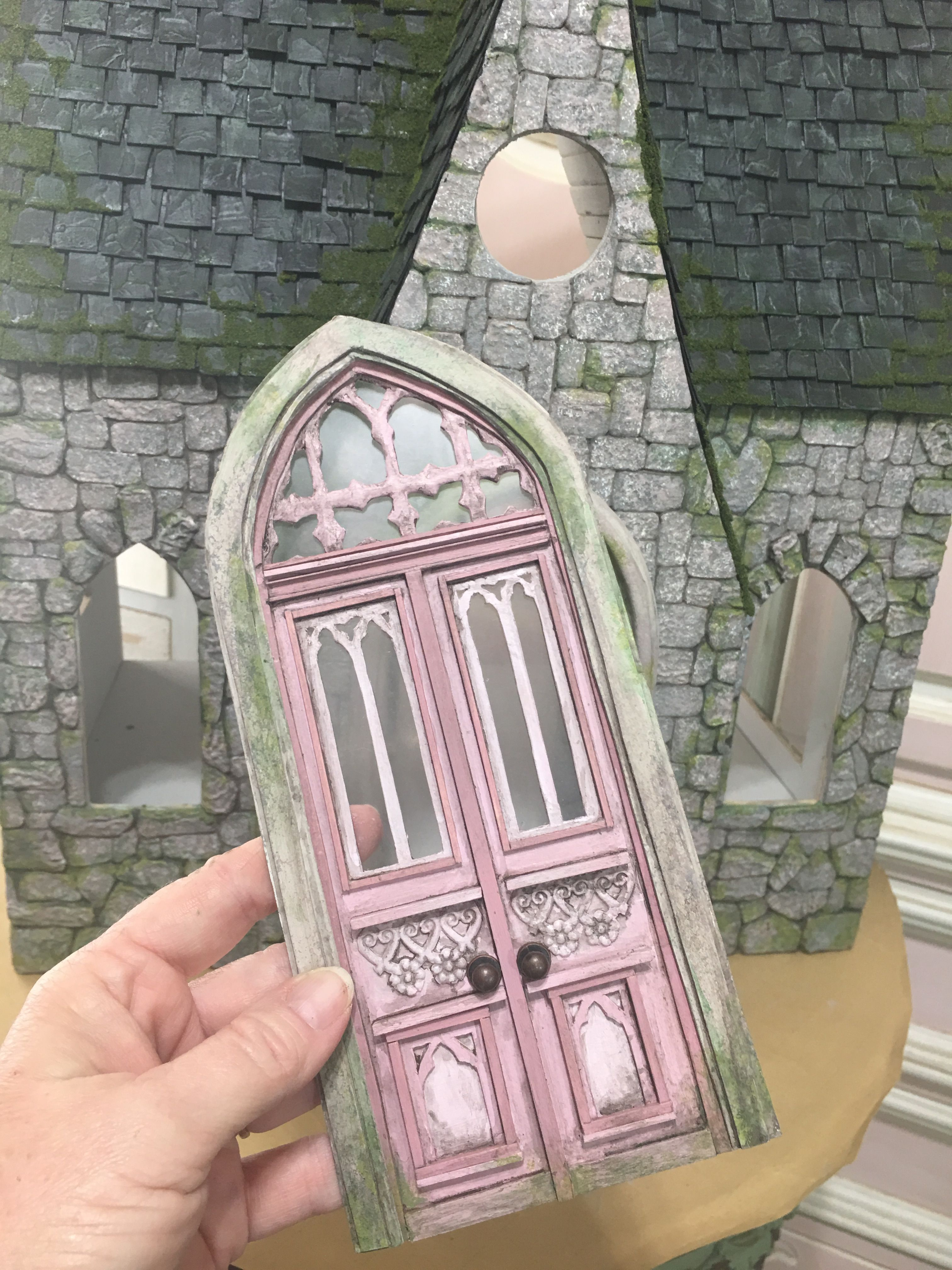 Miniature Door Diy Fairy Door Doll House Miniatures