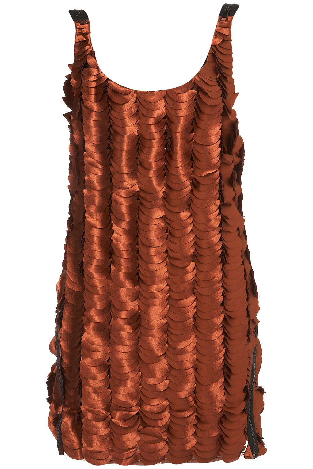 I think I might love this...Rust Petal Dress by Unique #topshop #unique #petal #dress