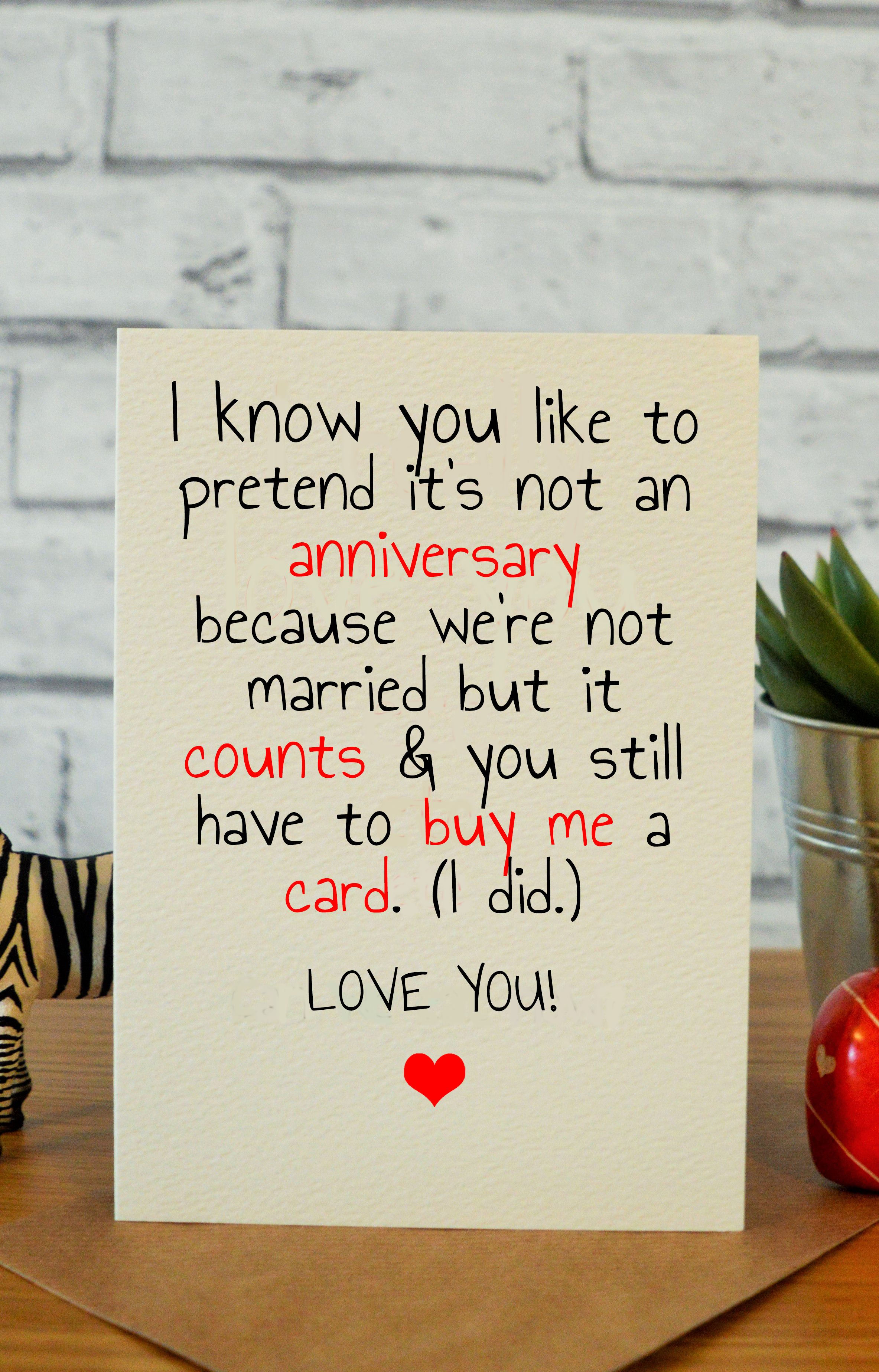 Funny Anniversary Cards For Him Husband Card Boyfriend Gifts