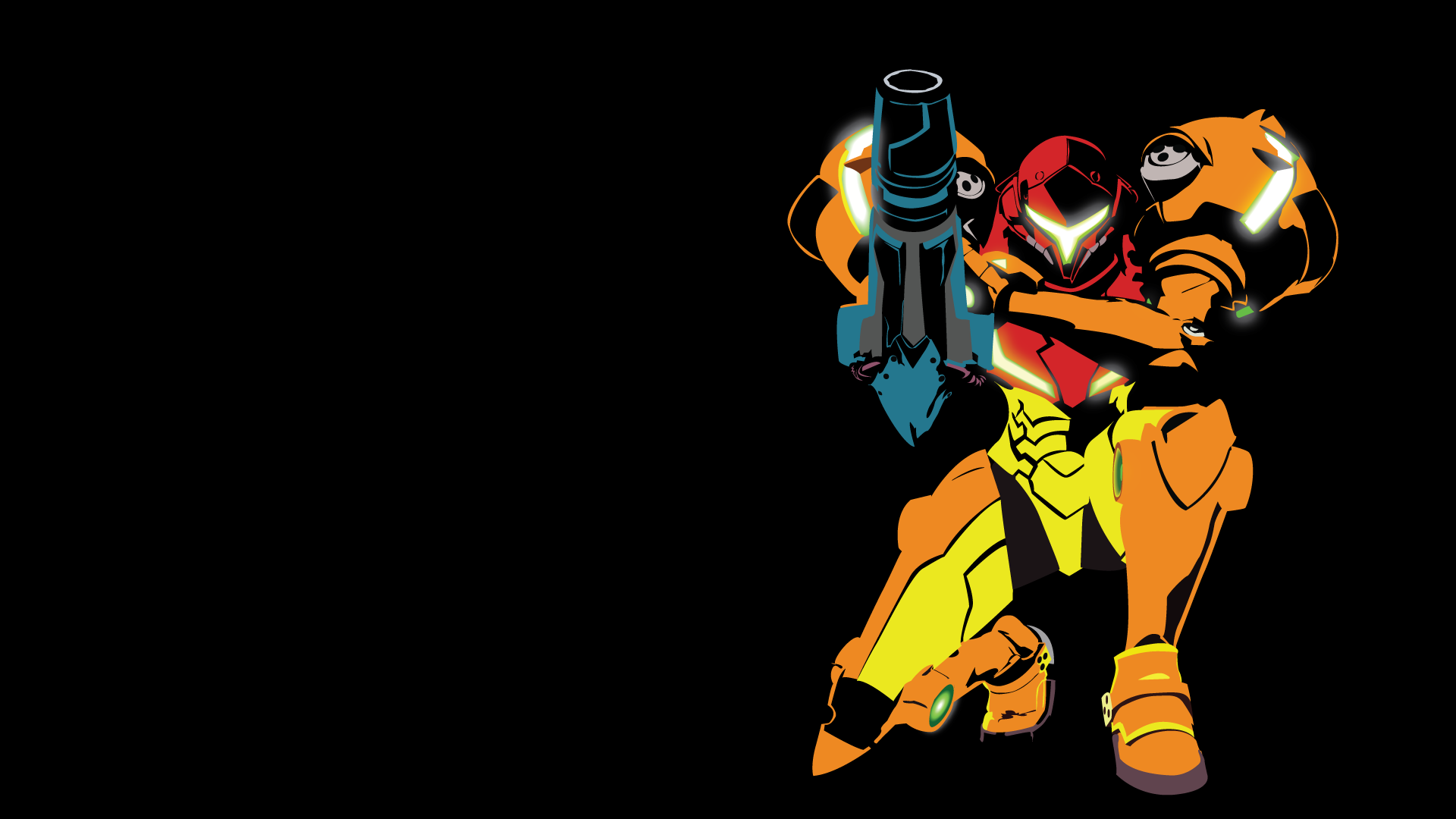 I Made A Vector Minimalist Wallpaper 1920x1080 Of Samus In Her