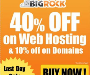 Upto 40% off on Hosting at Bigrock