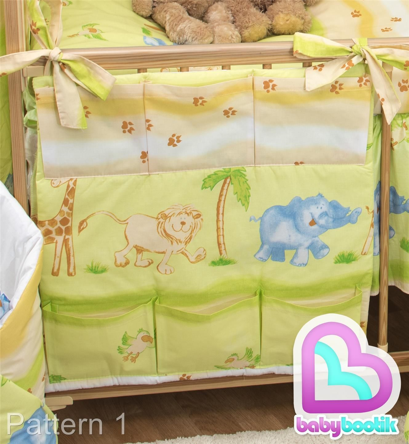 Nursery Baby Cot Tidy Padded Organiser for Cot// Cotbed// Cot Bed