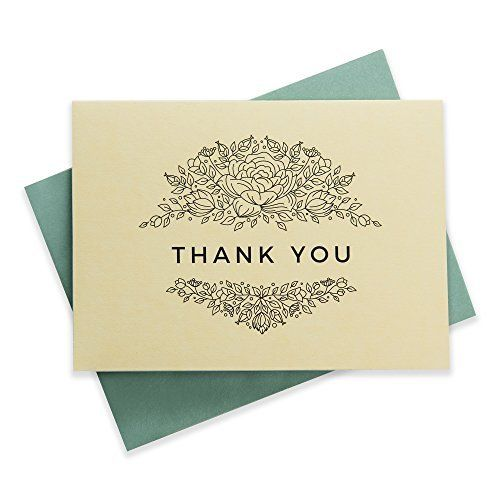floral thank you cards multipack set of 50 blank cards