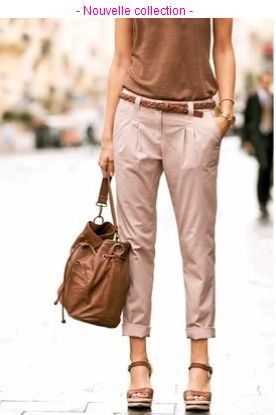 3829786e258af pantalon_chino_femme_grande_taille_002 Tenue Pantalons, Tenue  Vestimentaire, Pantalon Chino Femme, Pantalon Beige Femme, Tenue
