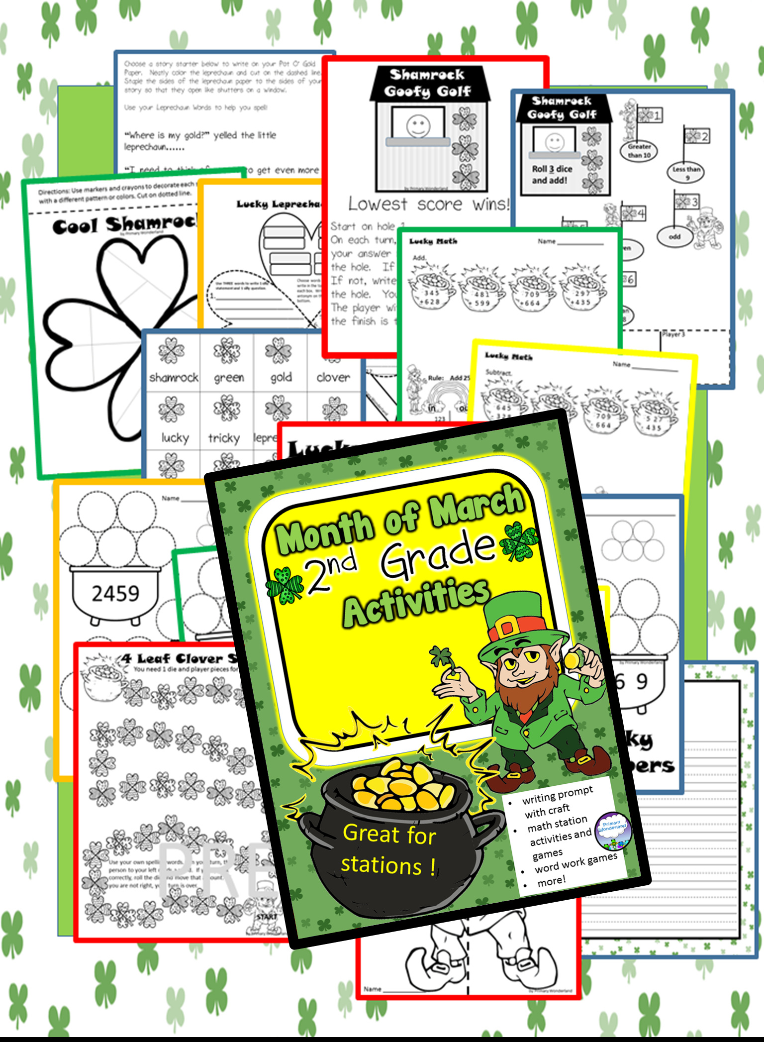 St Patrick S Day Worksheets For 2nd Grade   Printable Worksheets and  Activities for Teachers [ 2112 x 1536 Pixel ]