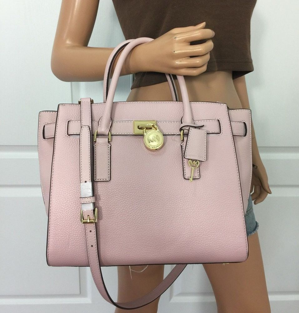 72d7ad6535c9 NWT Michael Kors Hamilton Traveler Large Leather Shoulder Handbag Bag Purse  Pink  MichaelKors  TotesShoppers
