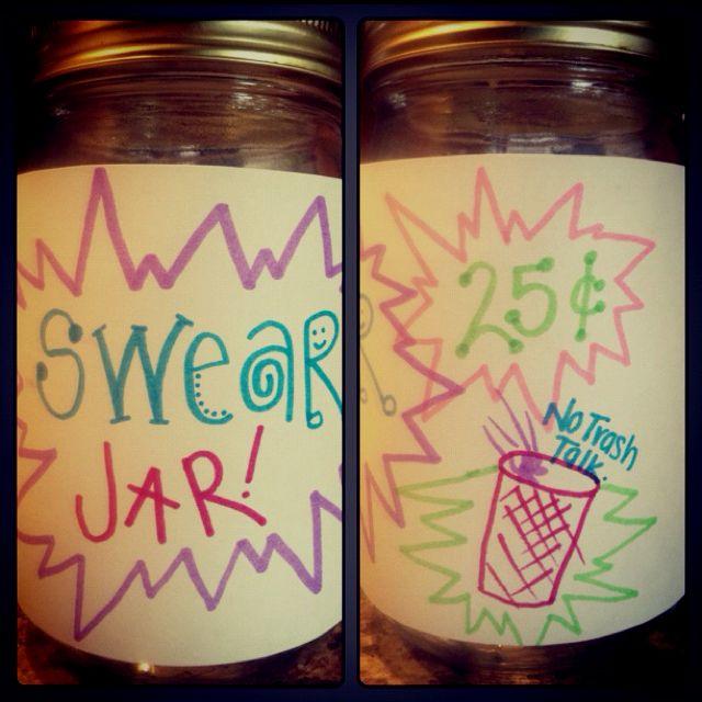 Keep It Clean Swear Jar Jar Hidden Words