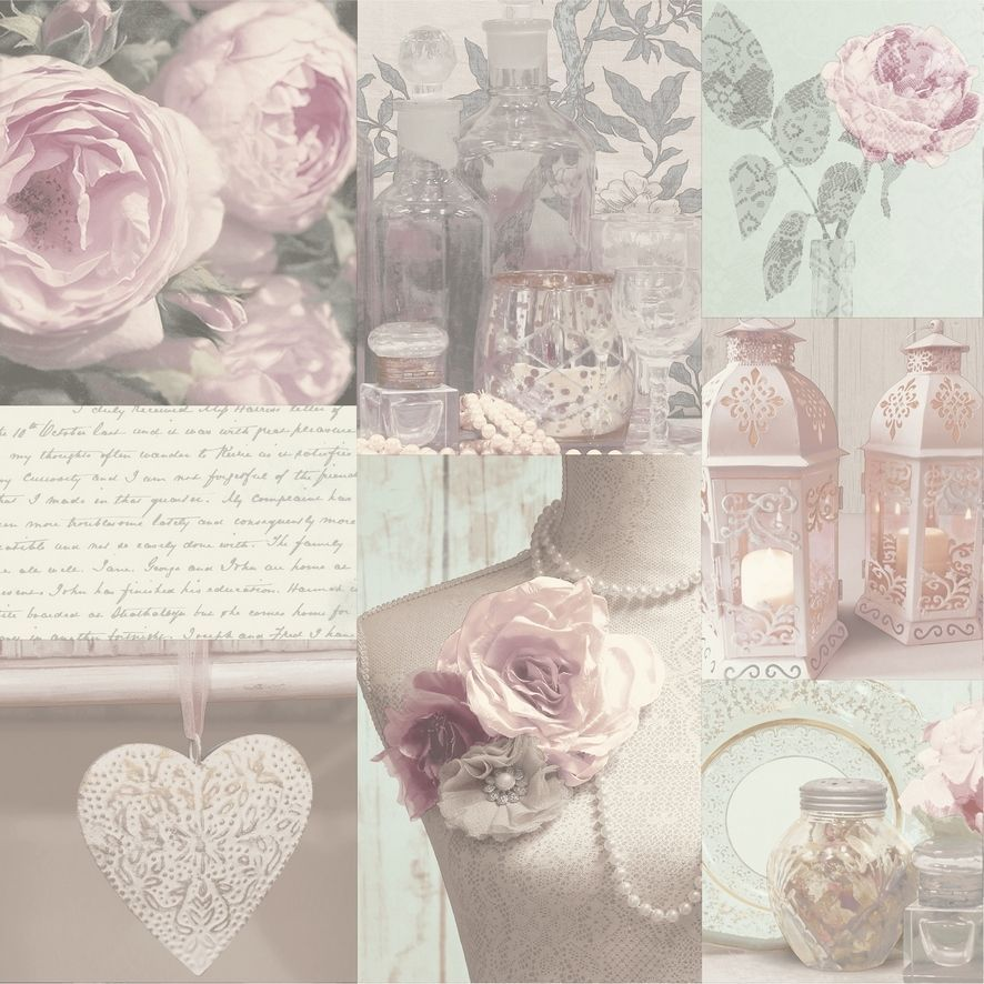 £7.95 GBP - Wow! Shabby Chic Charlotte Blush Heart Love Feature Wallpaper #ebay #Home & Garden