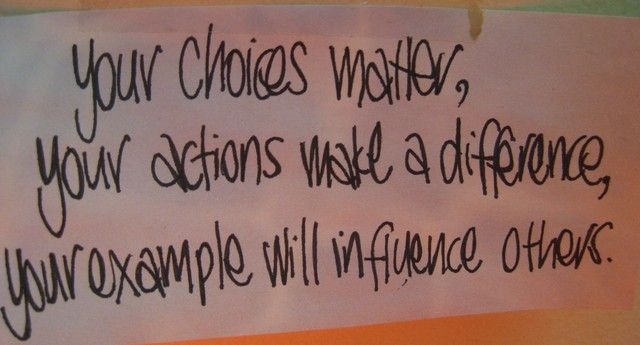 Inspirational Quote for the Week Choices Inspirational