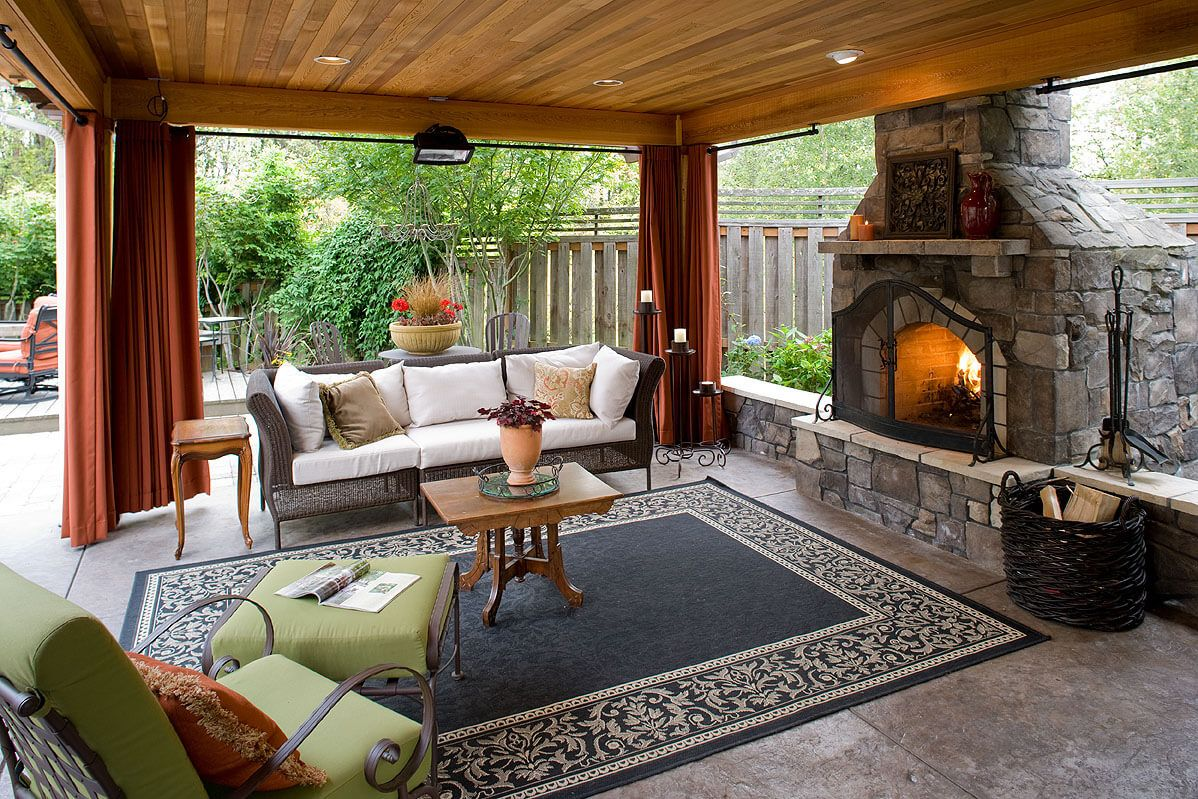 Outdoor Living Room With Fireplace 5 Gorgeous Rooms To Enhance Your Backyard