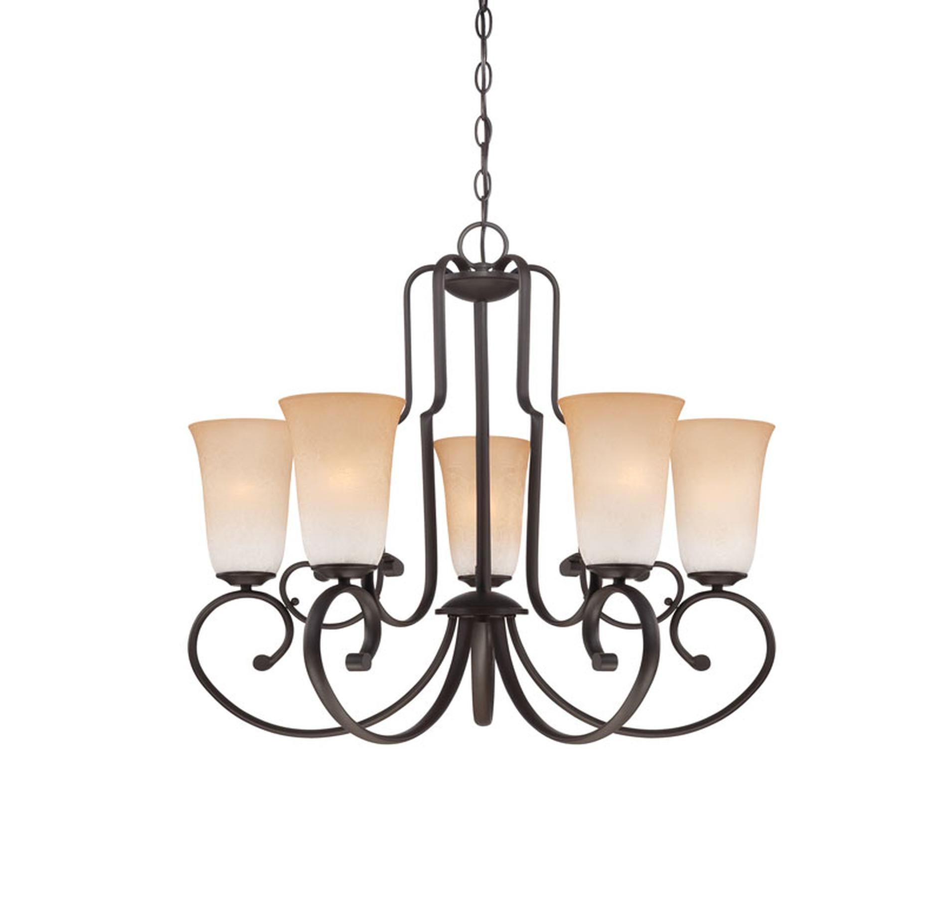 Quoizel Symphony 5 Light Chandelier In Old Bronze Finish Other Clearance All