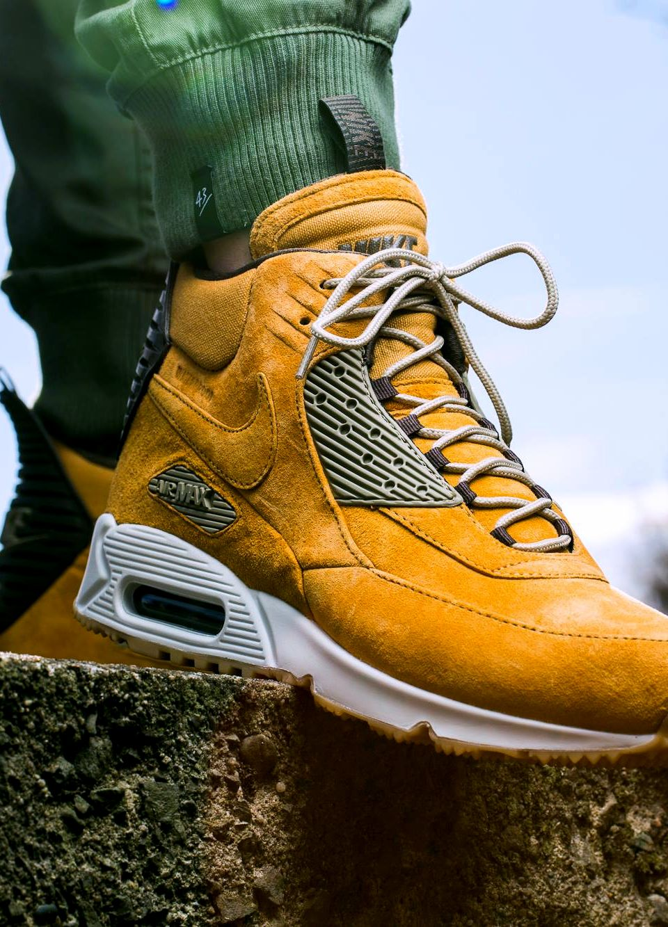 air max 90 sneakerboot winter bronze