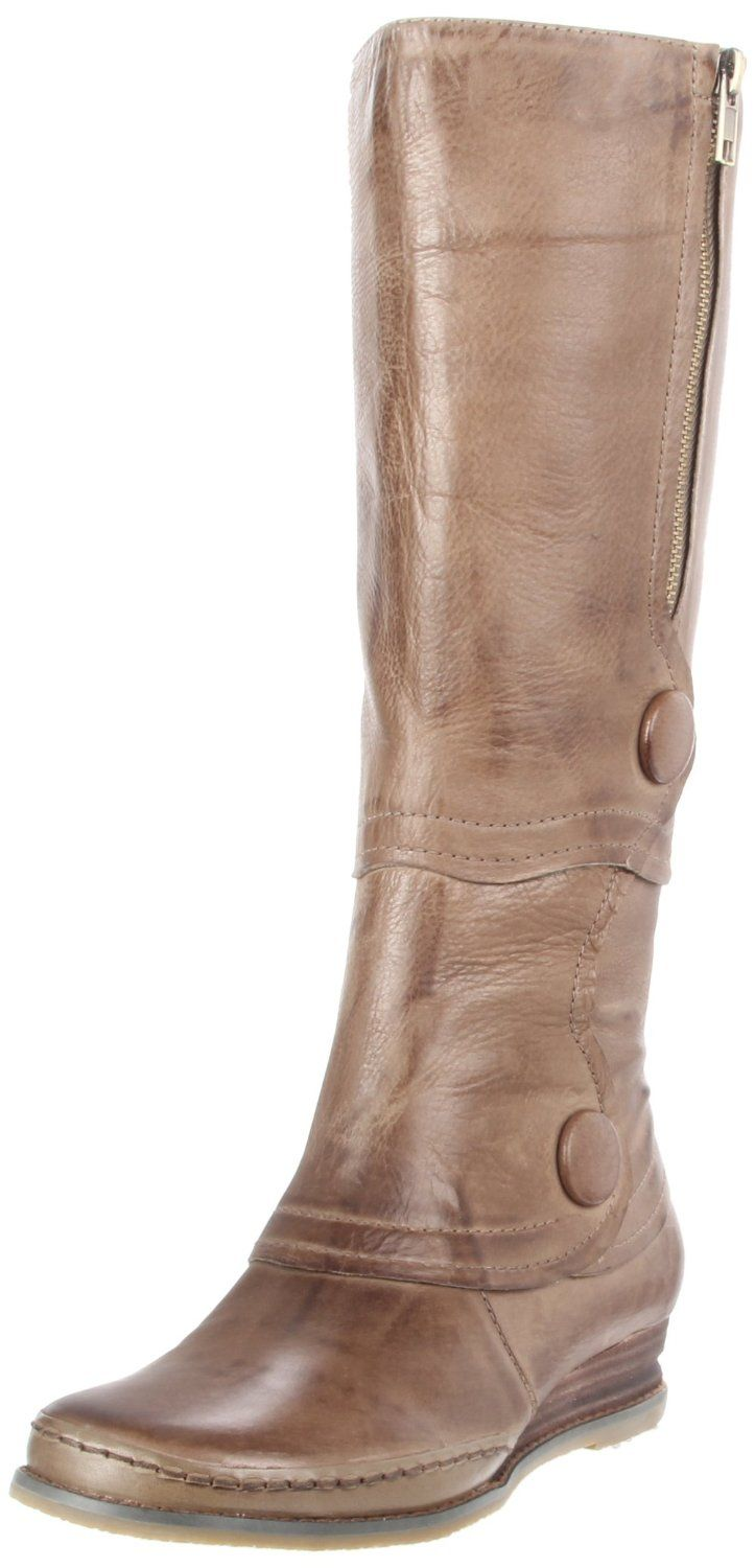 Brown Leather Seldon Flat Knee High Boots