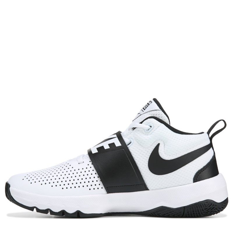 b00ad9378c9e Nike Kids  Team Hustle D8 Basketball Shoe Grade School Shoes (White Black)