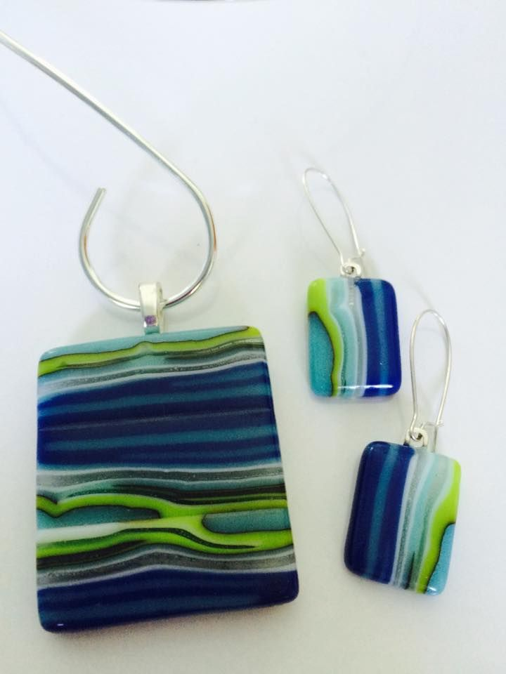 Handmade, fused glass jewelry by Miss Olivia's Line. #MOL Additional items poste…